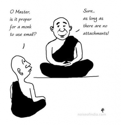 Buddhist Master on Emails and attachments
