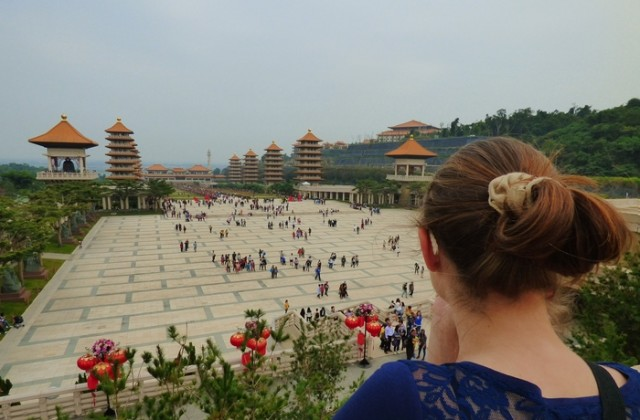 Fo-Guang-Shan-Kloster in Taiwan - Blick vom Tempel